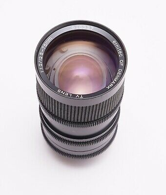 C mount- Ernitec of Denmark TV lens12.5-75mm F1,2 - fast vintage lens