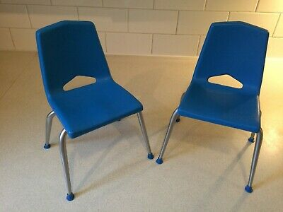 Mid Century Doll Furniture Plastic  Chairs Blue VINTAGE