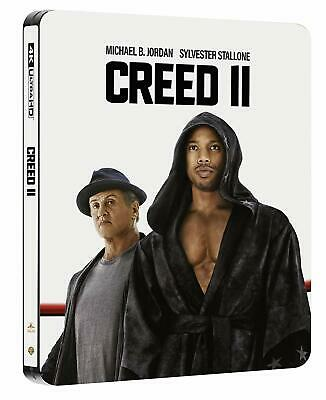 Creed II (2) (STEELBOOK) (4K Blu-ray + Blu-ray) (Region Free) (2018) (NEW)