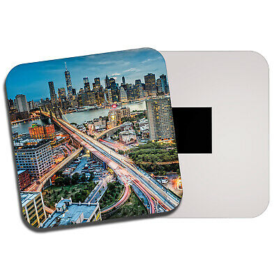 New York City Brooklyn Bridge Souvenir Foto Magnet Fridge,Neu