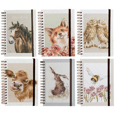 Wrendale A5 Spiral Bound Notebooks Countryside Animals Pad Writing Book