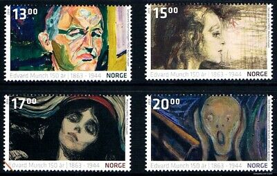 $22.75 Value - NORWAY ART: MUNCH 2013 - Stamp Sale! MNH NH Combined Shipping