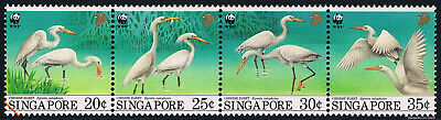 $5.50 Value - SINGAPORE EGRETS WWF 1993 - Stamp Sale! MNH NH Combined Shipping
