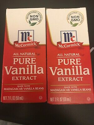(Lot of 2) McCormick All Natural PURE VANILLA EXTRACT 2 oz (4 oz Total) SEALED