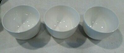 Gibson Designs WHITE ELEMENTS Soup Cereal Bowls set of 3 bin 1130