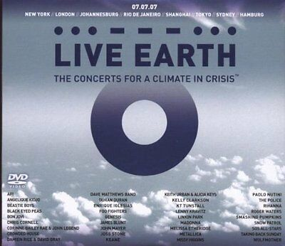 Live Earth - The Concerts for a Climate in Crisis (DVD, 2007, 3-Disc Set, CD
