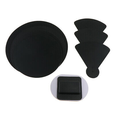 4x Bass Snare Drum Sound off Mute Silencer Drumming Rubber Practice Pad Set