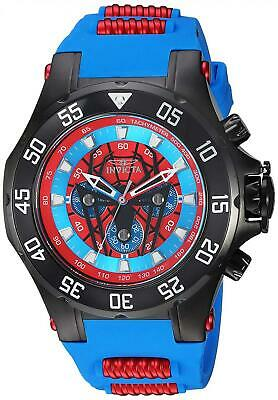 Invicta Men's 'Marvel' Quartz Stainless Steel and Silicone Watch, Color:Blue...