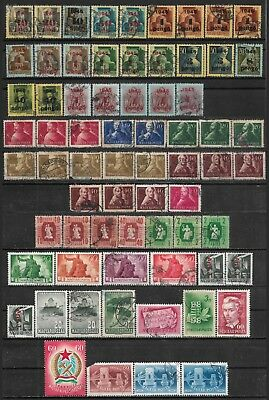 1945-1949 Hungary Ungarn Magyar Lot Of 69 Used Stamps Cv €10.00