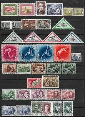 1952 Hungary Ungarn Magyar Lot Of 38 Used Stamps Cv €14.50
