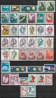 1959 Hungary Ungarn Magyar Lot Of 40 Used Stamps Cv €12.10