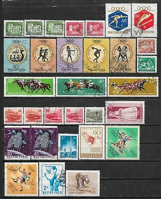 1960-1964 Hungary Ungarn Magyar Lot Of 31 Used Stamps Cv €4.00