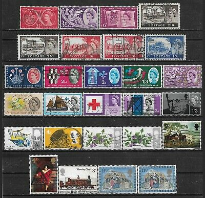1957-1979 GREAT BRITAIN LOT OF 27 USED STAMPS Scott CV $16.15
