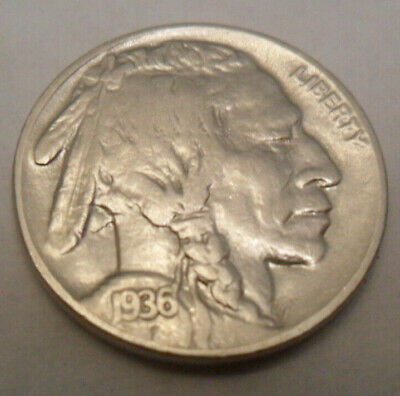 "1936 D Indian Head ""buffalo"" Nickel  Sds  **free Shipping**"