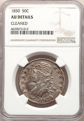 1830 NGC AU Details Capped Bust Silver Half Dollar Type Coin About Uncirculated