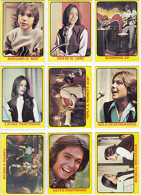 The Partridge Family Vintage Series 1 Complete 55 Trading Card Set  1971 Topps
