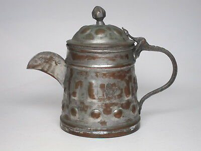 Antique Copper Dallah Coffee Pot Arabic Islamic Bedouin Art Hand Hammered Kettle