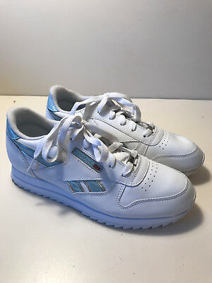 ccbbc606d60 REEBOK JUNIOR WOMENS CLASSIC LEATHER Trainers Size UK4 EU36 23.3cm ...