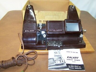 Kalart Editor Viewer Eight for 8mm Color and B&W Model EV-8 with Instructions