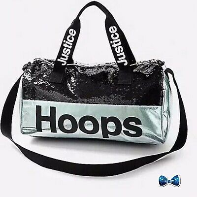 Justice Girls Hoops Flip Sequin Full Size Basketball Duffel Bag