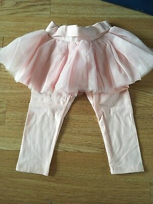 NEW Baby Gap Pink Tutu skirt And Leggings Size 12-18 Months