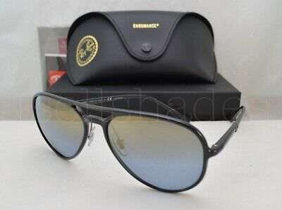 a1e5740502 RAY BAN SUNGLASSES 4312CH 4312C 4312 BLACK MIRROR POLARIZED 601 J0 ...
