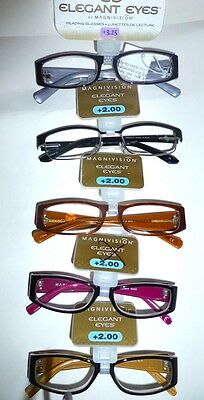 2ad6948d648 MAGNIVISION ELEGANT EYES FOSTER READING GLASSES Assorted Styles +1.25 to  3.25