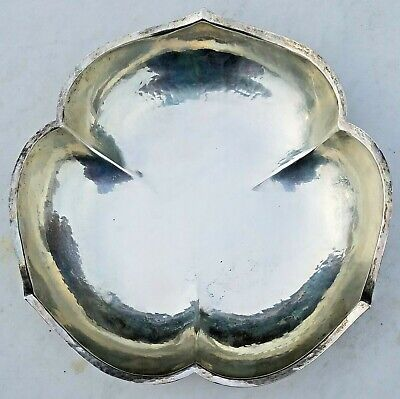 Estate Randahl R1811 Sterling Silver Large Hand Hammered Scalloped Bowl-No Monos