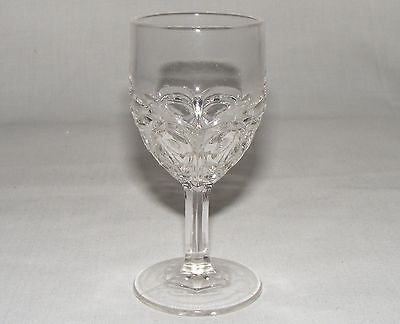 ANTIQUE VICTORIAN eapg EARLY CANADIAN FILLY PRESSED GLASS WINE CORDIAL