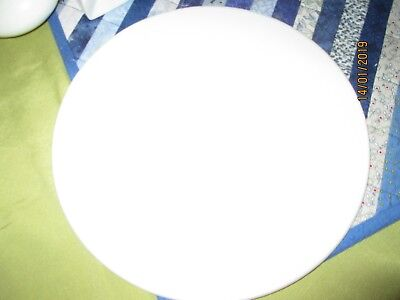 PORCELAIN/ CERAMIC WHITE PLAQUES-FOR PAINTING-CRAFT. QUALITY.ROUND,FLAT 31.5 cm.