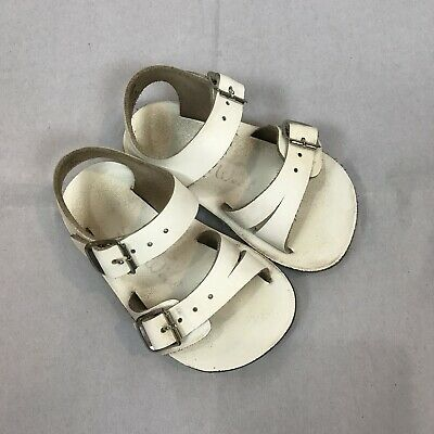 1c8afad69b7a SUN SAN SALTWATER Sandals SEA WEES White Toddler Girls Size 3 ...