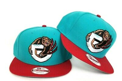 dd6e8a80048bc NEW ERA VANCOUVER Grizzlies 9Fifty Snapback Hat Team color Teal -Red ...