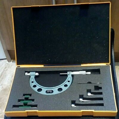 "Mitutoyo 0-4"" combination Micrometer full set superb condition number 104-149"