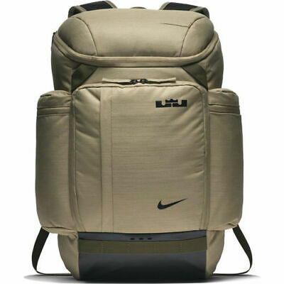 sale retailer c9fad 7e039 Nike Lebron James Backpack BA5563-209 Neutral Olive Black New With Tags