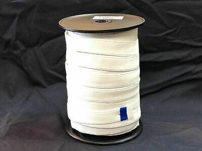 Elastic webbing 25mm high quality 50mt Roll white, sewing horse rug