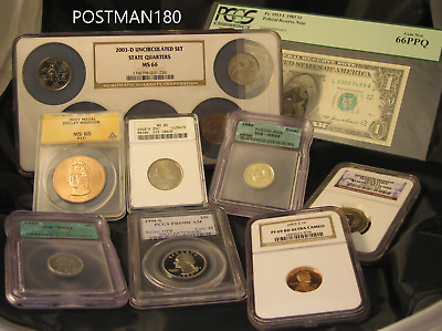 ✯ ESTATE SALE! ✯ PCGS, NGC, ICG, ANACS Slabbed GRADED Coin Hoard ✯ 9 SLAB LOT