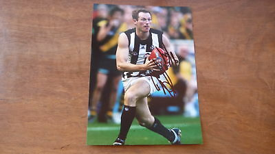 BEN JOHNSON HAND SIGNED COLLINGWOOD FC 7x5 INCH ACTION PHOTO
