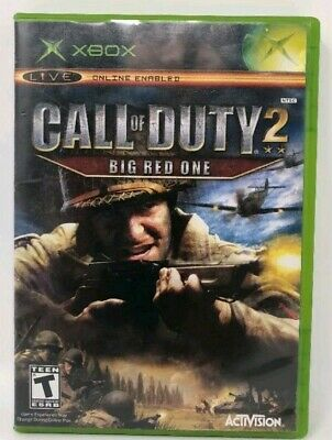 Call of Duty 2 Big Red One Microsoft Xbox 2005 No Manual War Shooter Tested