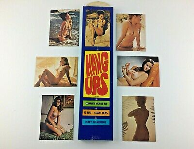 Vintage Naked Beautiful Woman Hang Ups Mobile Kit  Nude Breasts 1960s