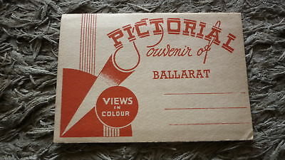 AUSTRALIAN OLD POSTCARD VIEW FOLDER. FROM THE 1950s BALLARAT VICTORIA IN COLOUR