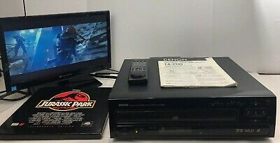 Denon LA-2300 Multi Laser Disc Player CD Laser Disc CDV, Remote, Manual, Movie