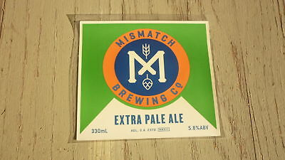Australian Beer Label, Mismatch Brewing Co Adelaide Sa, Extra Pale Ale