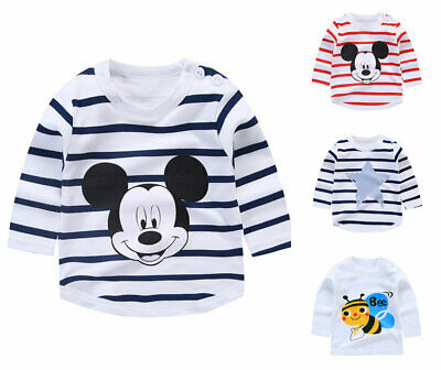 1 pcs baby kids girls clothes boys long sleeve T shirt baby cotton top Tee