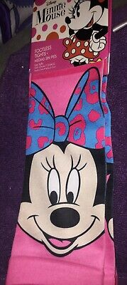 Disney Girls Minnie Mouse  Footless Tights ( Size 7-10 M/L ) New