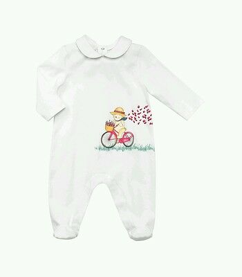 4e5a0b636d3 NWT NEW Gucci baby girls Teddy Bear Print Playsuit romper footie 3 6 or 6