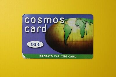 Cosmos Card 10 Euro-Prepaid Calling Card -Collectibles Old Vintage Tele Phone