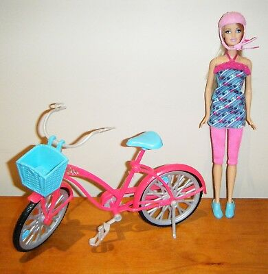 Barbie Fab Life bicycle and 30 cm cycling doll set - used