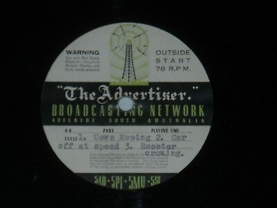 "5AD THE ADVERTISER BROADCASTING NETWORK 10"" Record Adelaide 1950's"