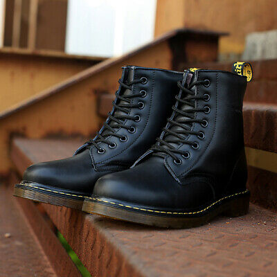 Fashion men boots winter military black boots men shoes leather Mid-Calf Lace-Up