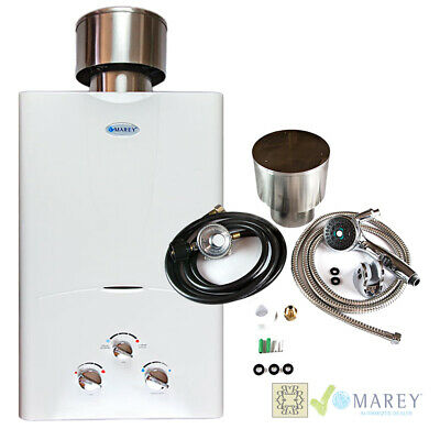 Marey GA10LPOB Water Heater Propane Tankless Bundle 2.7 GPM Best On-Demand